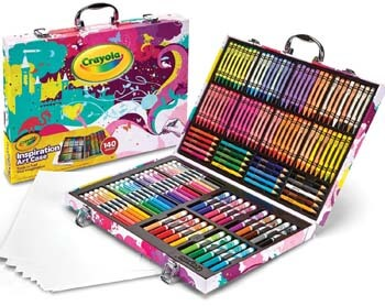 3. Crayola Inspiration Art Case in Pink, Coloring Set, Gifts for Girls & Boys, Age 5+, 140 Count