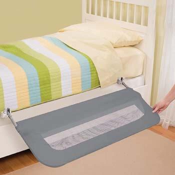 6. Summer Extra Long Folding Single Bedrail, Grey