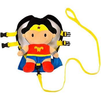 3. KidsEmbrace Batman/Wonder Woman 2-in-1 Child Safety Harness and Travel Buddy
