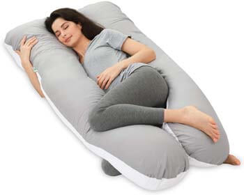 10. NiDream Bedding Pregnancy Pillows, Full Body Pillow with Washable Cotton Cover