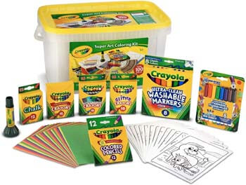 4. Crayola Super Art Coloring Kit, Styles Vary, Amz Exclusive, 100+ Pcs, Gift for Kids