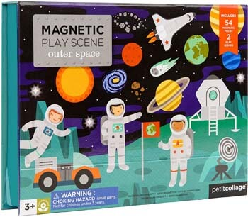 8. Petit Collage Magnetic Play Scene, Outer Space, Ages 4+ Years