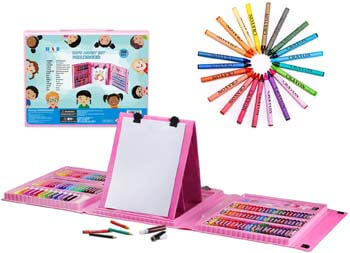 7. H & B Kids Art Supplies 208-Piece for Painting & Drawing, Art Set Case