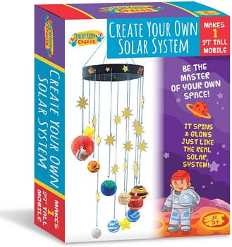 10. Peachy Keen Crafts DIY Make Your Own Solar System Mobile Kit