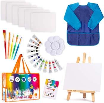 8. ColorCrayz Kids Art Set | 27-Piece Acrylic Paint Set