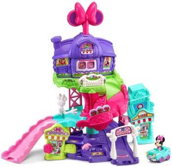 3. VTech Go! Go! Smart Wheels - Disney Minnie Mouse Around Town Playset, Pink