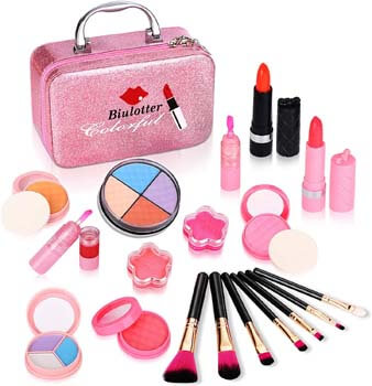 7. Biulotter 21pcs Kids Makeup Kit for Girls Real Kids Cosmetics Make Up Set