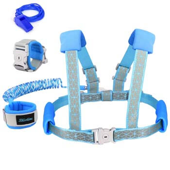 2. Blisstime 2 in 1 Reflective Toddler Leash -Anti Lost Wrist Link for Toddlers
