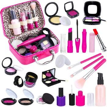 9. TEPSMIGO Pretend Makeup Kit for Girls, Kids Pretend Play Makeup Set