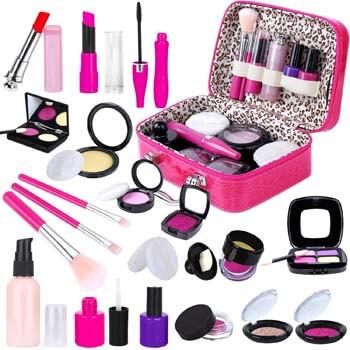 2. INNOCHEER Kids Pretend Makeup Kit