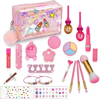 4. RichSmile 22PCS Washable Kids Makeup Toy Kit