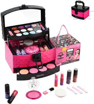 5. Mathea 29 Pcs Washable Makeup Toy Set
