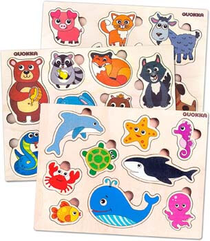 8. Toddler Wooden Puzzles Toys for Kids Ages 1 2 3 Years Old Boys and Girls