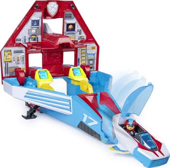 6. Paw Patrol, Super Paws, 2-in-1 Transforming Mighty Pups Jet Command Center