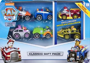 10. PAW Patrol, True Metal Classic Gift Pack of 6 Collectible Die-Cast Vehicles