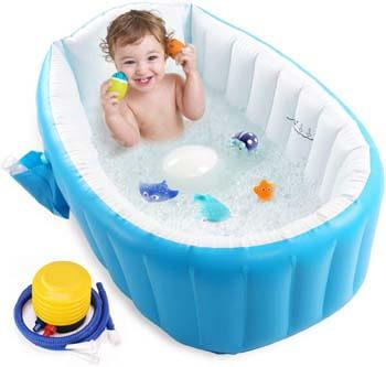 10. Intime Baby Inflatable Bathtub, Portable Infant Toddler Bathing Tub