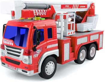 1. Gizmovine Fire Truck Toy Friction Power