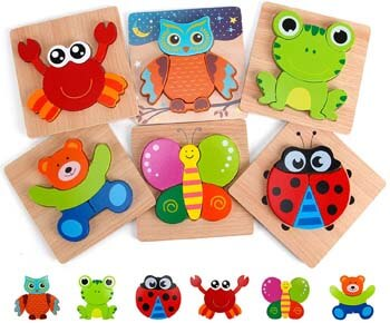 4. Slotic Wooden Puzzles for Toddlers