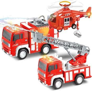 5. Tuptoel Vehicle Set, Fire Trucks