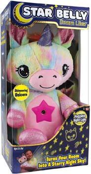 3. Ontel Star Belly Dream Lites, Stuffed Animal Night Light, Shimmering Rainbow Unicorn