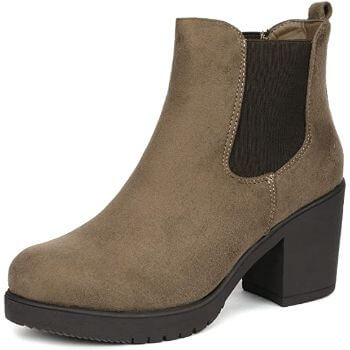 3. DREAM PAIRS Women's FRE High Heel Chelsea Style Ankle Bootie