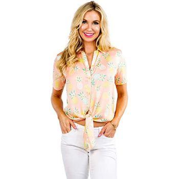 5. Tipsy Elves Women's Bright Hawaiian Shirt for summer