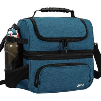 10. MIER Dual Compartment Lunch Bag Tote