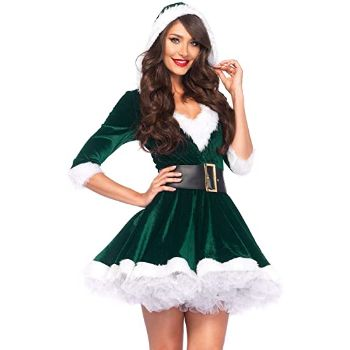 1. Leg Avenue Costume - 2 Piece Mrs. Claus Costume Set